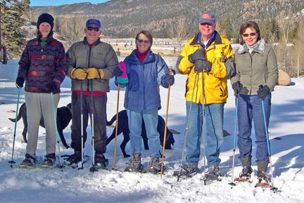 Snowshoeing On New Year's Day