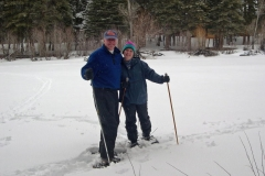 Doug and Vicki Bader snowshoeing